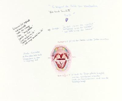 Bunte Smileys (Zähne/Ober-/Unterkiefer)